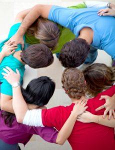 group in prayer